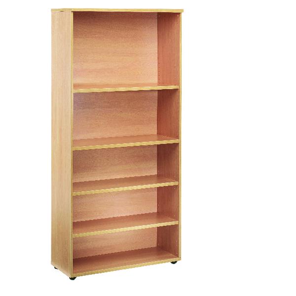 Jemini Oak 1800mm Bookcase 4 Shelf