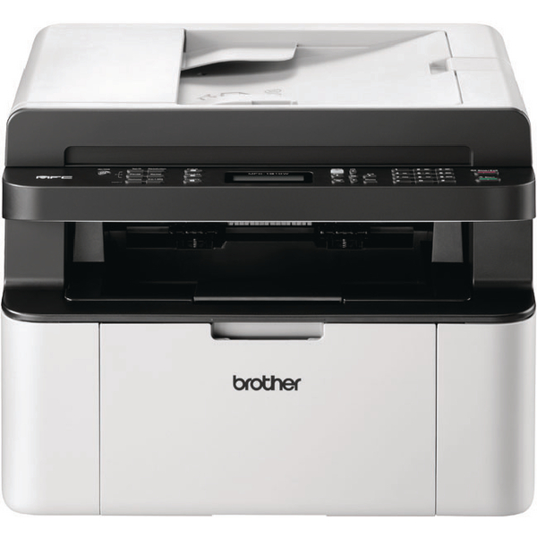 Brother MFC-1910W Mono Laser All-in-One Printer with Fax Wireless White (Pack of 1) MFC1910WZU1