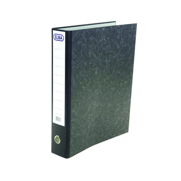 Elba Black A3 Portrait Plastic Lever Arch File (Pack of 1) 100080746
