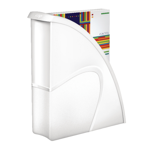 image for cep pro gloss magazine file white pack of 1 674g whte cep ice magazine rack
