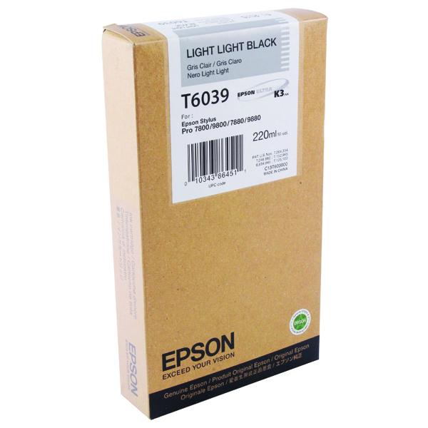 Epson T6039 Light Light Black High Yield Inkjet Cartridge C13T603900 / T603900