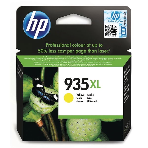HP 935XL Yellow High Yield Original Ink Cartridge C2P26AE