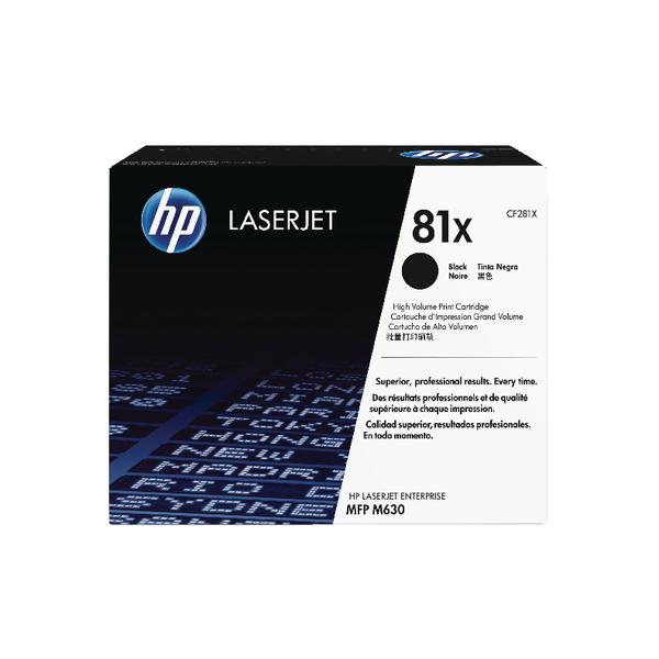 HP 81X Black High Yield Original Laserjet (Pack of 1)CF281X