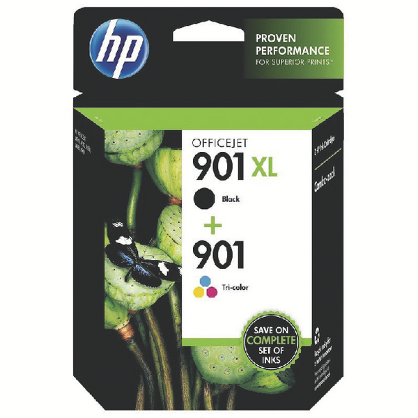 HP 901XL/901 Black/Cyan/Magenta/Yellow Ink Cartridges (Pack of 2) SD519AE