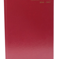 *Academic A4 Day To A Page Diary Burgundy 2016-2017