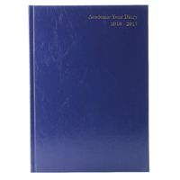 *Academic A4 Day To A Page Diary Blue 2016-2017