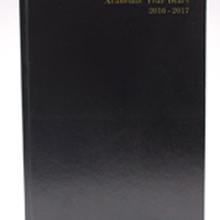 *Academic A5 Day To A Page Diary Black 2016-2017