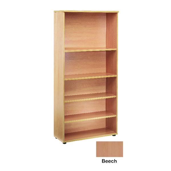Jemini Beech 1800mm Bookcase 4 Shelf