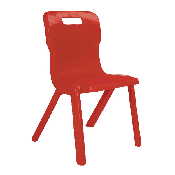 FF DD Titan 1 piece Chair 350mm Red (Pack of 10)