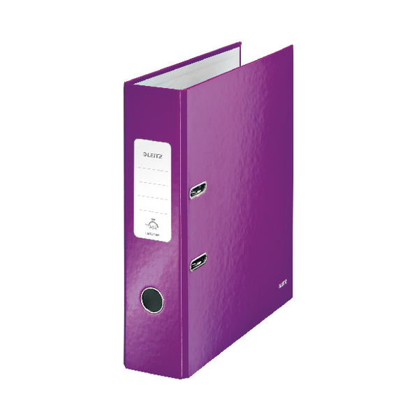 Leitz WOW Lever Arch File Purple A4 80mm (Pack of 10) 10050062