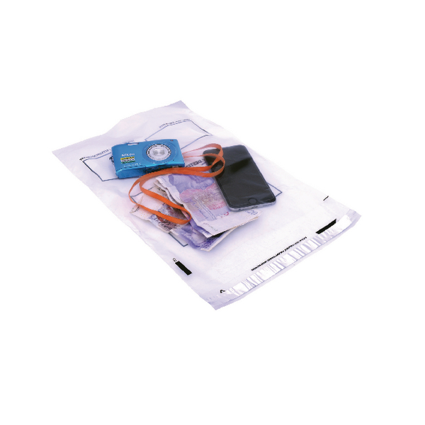 *Go Secure Extra Strong Polythene Envelopes Peel and Seal 240 x 320mm Clear (Pack of 100)