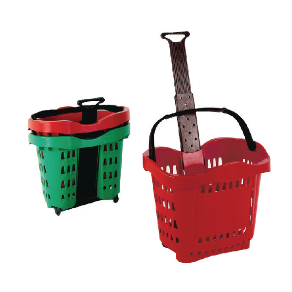 Giant Shopping Basket/Trolley Red .