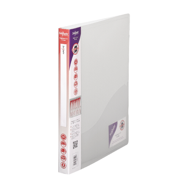 Snopake Ring Binder 2 Ring A4 15mm Clear (Pack of 10) 10119