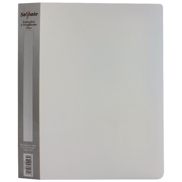 Snopake Polypropylene Executive Ring Binder A4 25mm Clear (Pack of 1) 13371