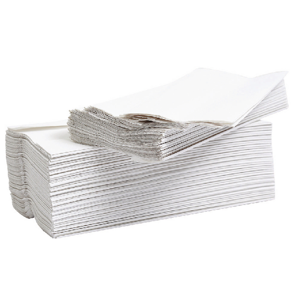 2Work Flushable C-Fold Hand Towel Embossed 2-Ply White 96 Sheets (Pack of 24) HT2WAVW