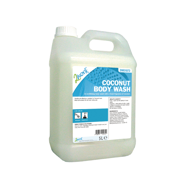 2Work Coconut Body Wash 5 Litre 2W01072