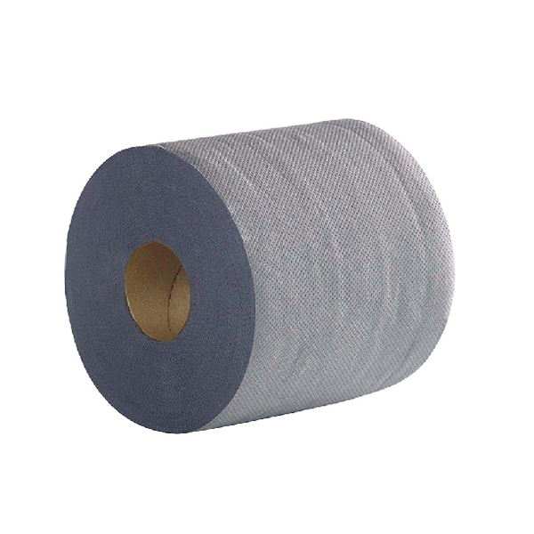 2Work Economy Centrefeed Roll 2-Ply 100m Blue (Pack of 6)