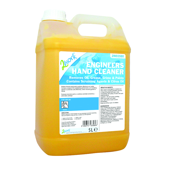 2Work Engineers Hand Cleaner 5 Litre Bottle 415