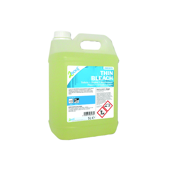 2Work Thin Bleach 5 Litre 2W03978