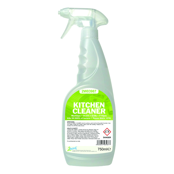 2Work Kitchen Cleaner Degreaser and Sanitiser 750ml
