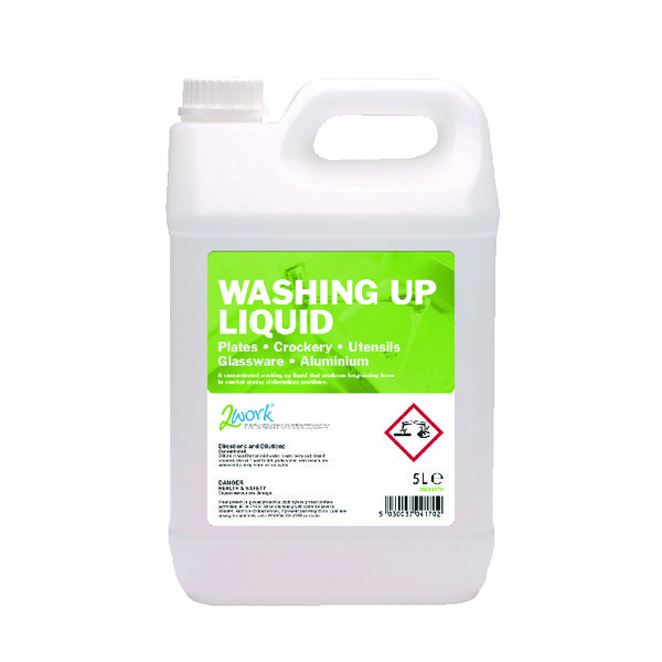 2Work Washing Up Liquid 5 Litre 432