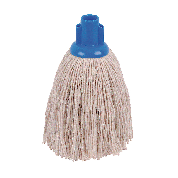 2Work 12oz Twine Rough Socket Mop Blue (Pack of 10) PJTB1210I
