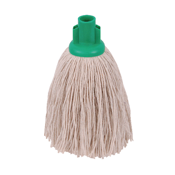 2Work 12oz Twine Rough Socket Mop Green (Pack of 10) 101851