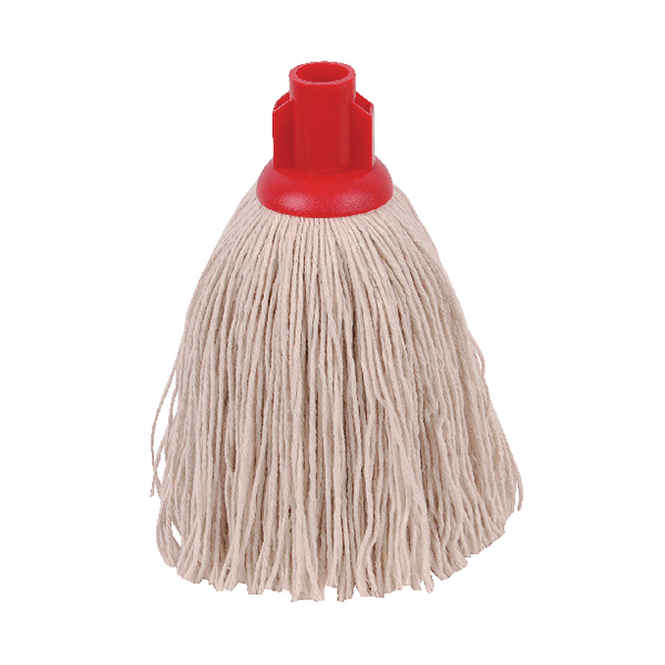 2Work 12oz Twine Rough Socket Mop Red (Pack of 10) PJTR1210I