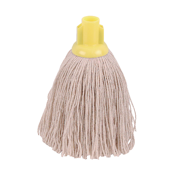 2Work 12oz Twine Rough Socket Mop Yellow (Pack of 10) PJTY1210I
