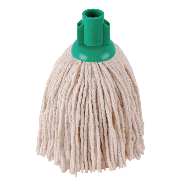 2Work 12oz PY Smooth Socket Mop Green (Pack of 10) PJYG1210I