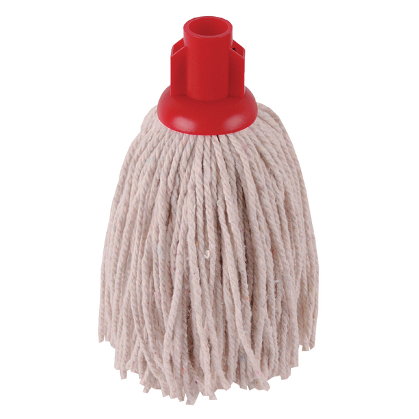 2Work 12oz PY Smooth Socket Mop Red (Pack of 10) PJYR1210I