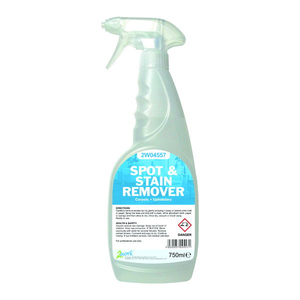 2Work Carpet Spot and Stain Remover 750ml 2W04557