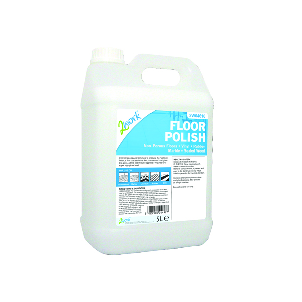 2Work Floor Polish 5 Litre 2W04610