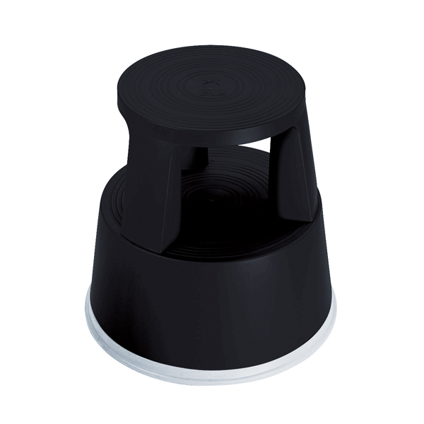 Image for 2Work Plastic Step Stool Black T7/Black