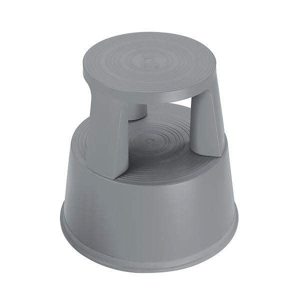 Image for 2Work Plastic Step Stool Dark Grey