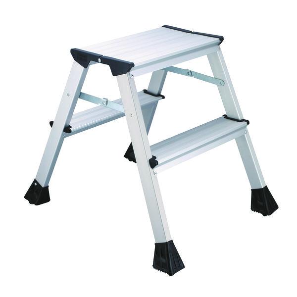 2Work Mini Metal 2-Step Ladder L2