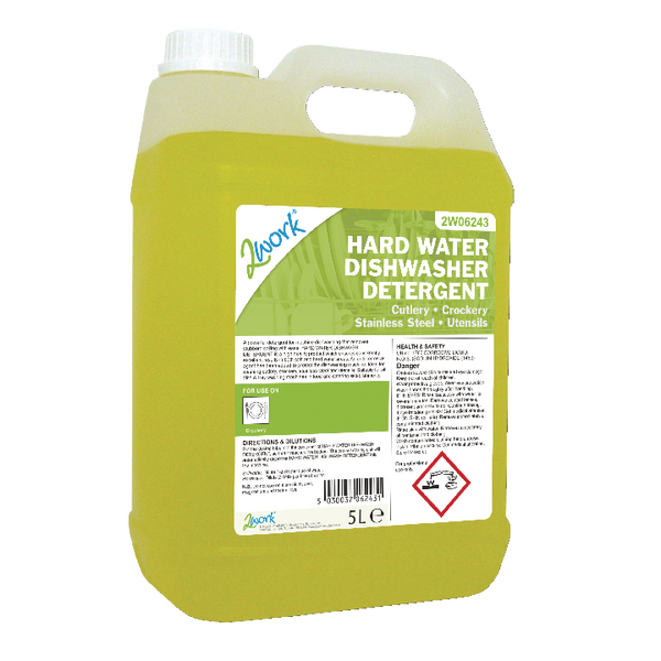 2Work Hard Water Dishwasher Detergent 5 Litre