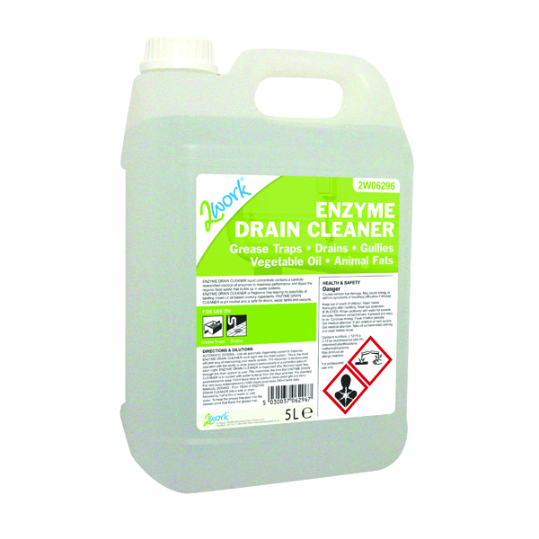 2Work Enzyme Drain Cleaner 5 Litre