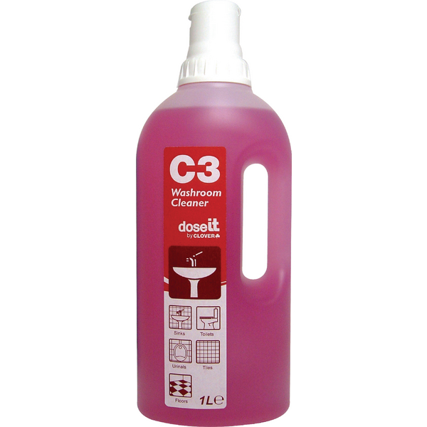 Dose It C3 Washroom Cleaner 1 Litre (Pack of 8) 2W06305
