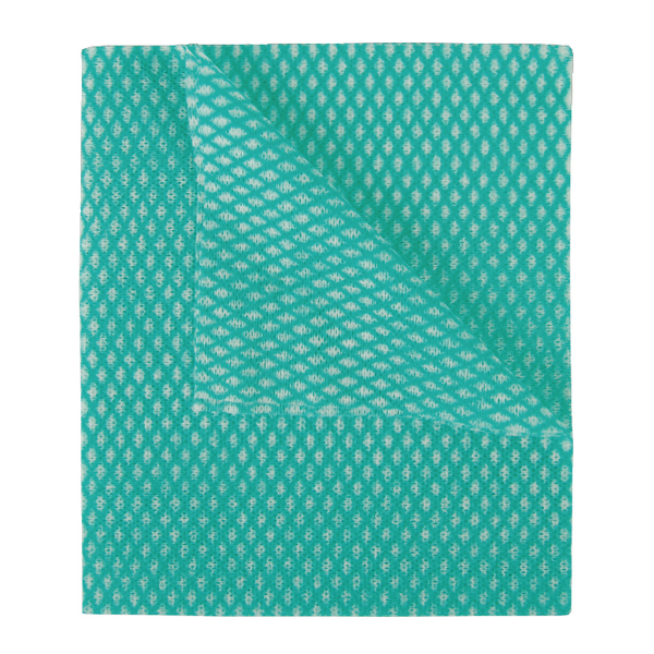 2Work Economy Cloth 420x350mm Green (Pack of 50) 100226G