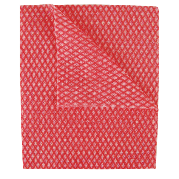 2Work Economy Cloth 420x350mm Red (Pack of 50) CCRC42BDI