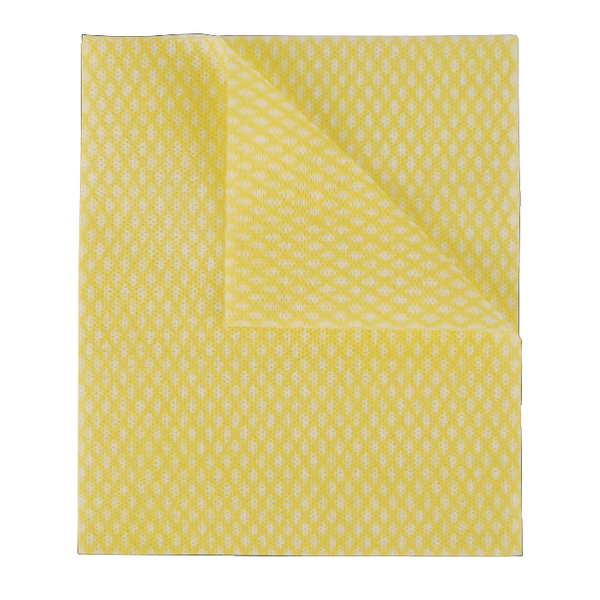 2Work Economy Cloth 420x350mm Yellow (Pack of 50) 100226Y