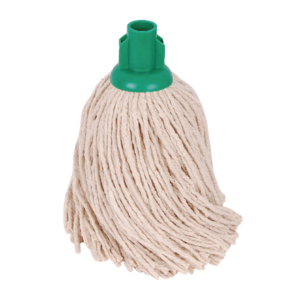 2Work 14oz PY Smooth Socket Mop Green (Pack of 10) PJYG1410I