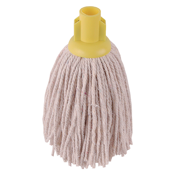 2Work 14oz PY Smooth Socket Mop Yellow (Pack of 10) PJYY1420I