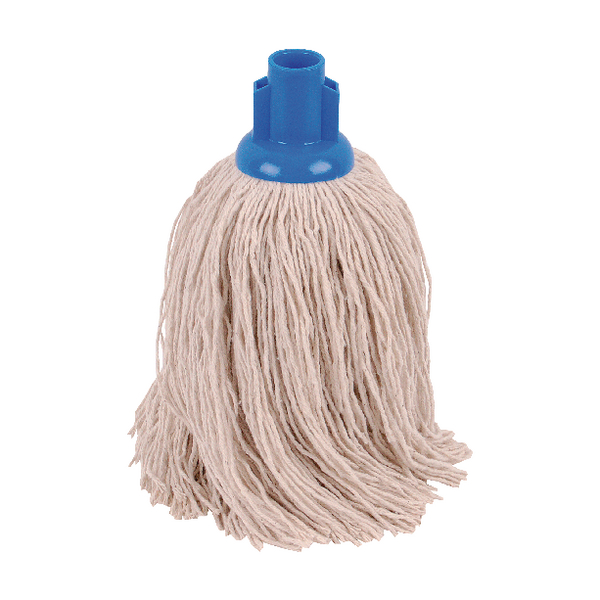 2Work 14oz Twine Rough Socket Mop Blue (Pack of 10) PJTB1410I