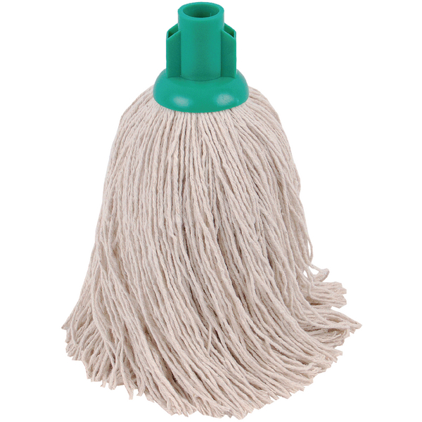 2Work 14oz Twine Rough Socket Mop Green (Pack of 10) PJTG1410I