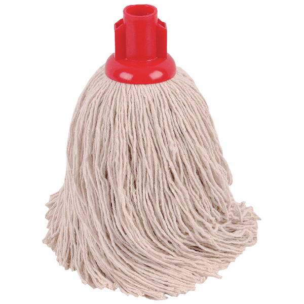 2Work Twine Rough Socket Mop 14oz Red (Pack of 10) 101855R