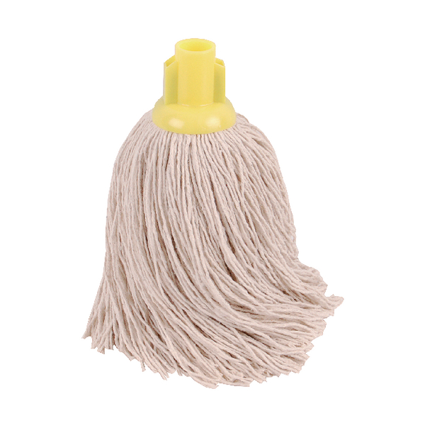 2Work 14oz Twine Rough Socket Mop Yellow (Pack of 10) PJTY1410I