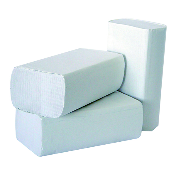 2WORK 1PLY WHITE M-FOLD PK3000 245X240MM