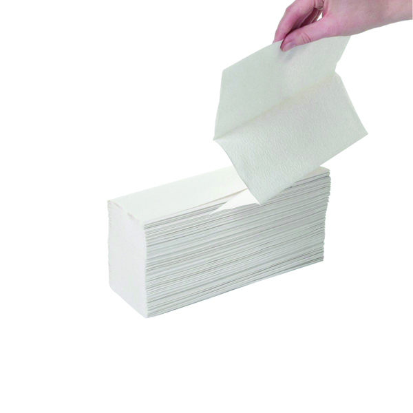 2Work White 2-Ply Multi-Fold Hand Towels 240x203mm (Pack of 2250) HTL003DS
